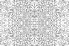 Coloring Book Page With Linear...