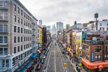 Chinatown Neighborhood In New York, United States.