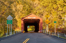 Covered Bridge Along Scenic Ro...