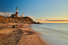 Montauk Lighthouse And Beach A...