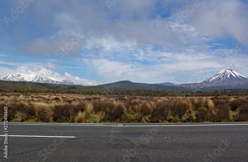 Panoramic view of Mount Ngauruhoe in Tongariro National Park Canvas Print