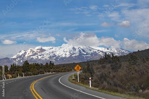 Photo  Panoramic view of Mount Ngauruhoe in Tongariro National Park