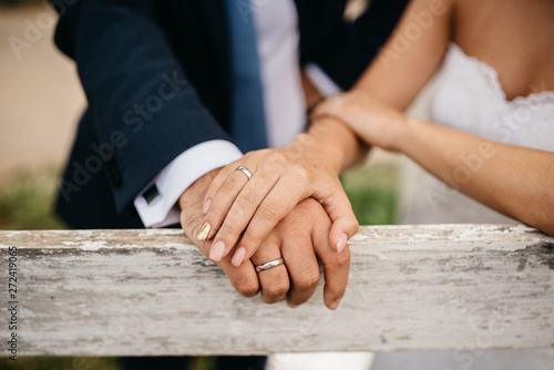Fototapety, obrazy: Wedding rings for bride and groom