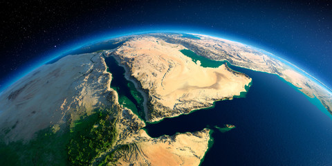 Detailed Earth. Saudi Arabia