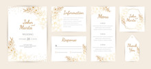 Wedding Invitation With Gold F...