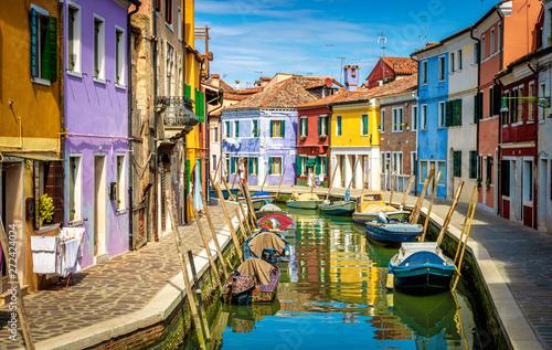 Island of Burano in Venice