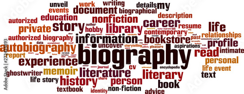 Photo Biography word cloud