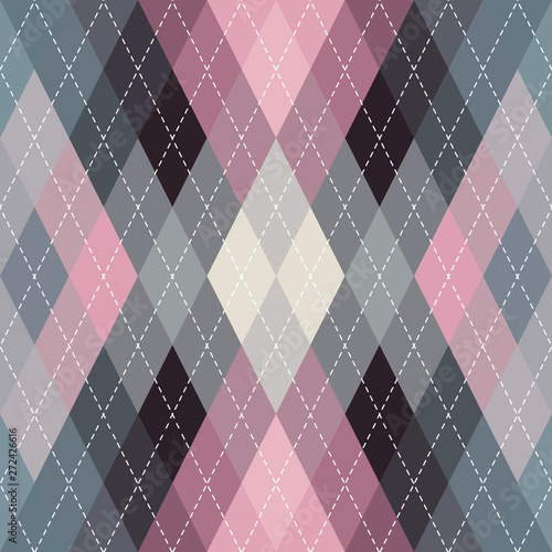 Photo  Classic argyle seamless pattern background. Vector image.
