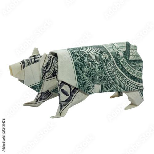 Origami Dollar Elephant 2 by: Ken Hmoob - YouTube   500x500