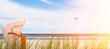 ostseestrand mit strandkorb