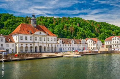 Carta da parati Altes Rathaus von Bad Karlshafen mit Weserhafen, Hessen