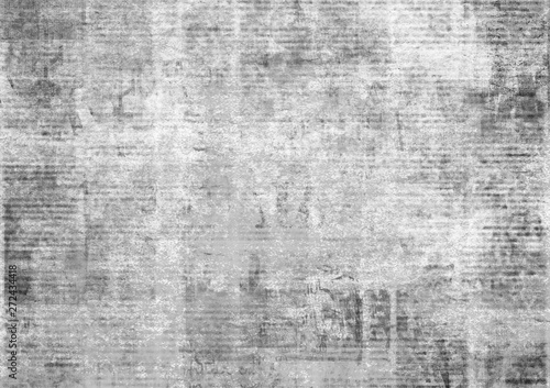 Photo sur Toile Retro Old vintage grunge newspaper paper texture background.