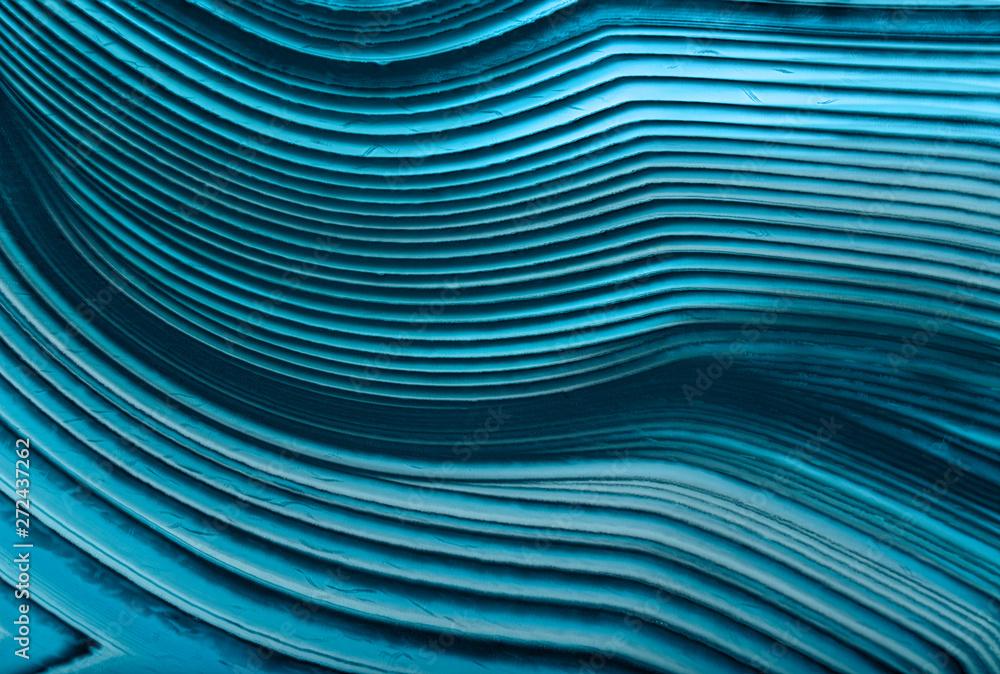 Fototapeta cyan agate lines macro texture