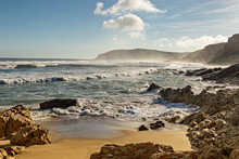 Rocky Coast In South Africa