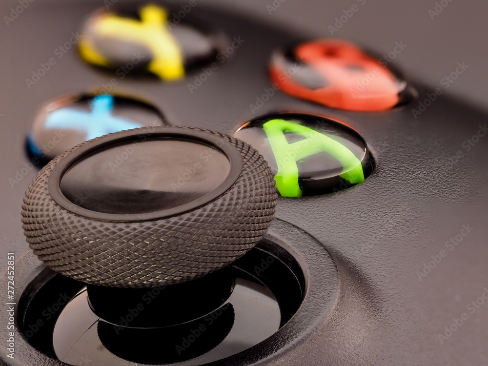 Fototapety, obrazy: Xbox controller thumbstick and buttons macro