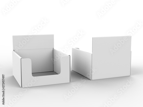 Blank counter top product display for mock up and branding Fototapeta