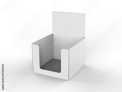 Fotomural Blank counter top product display for mock up and branding