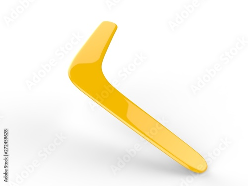 Photo Blank promotional boomerang for branding and mock up