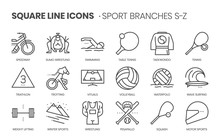 Sport Branches Related, Square...