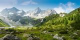 Fototapeta Nature - Panoramabild einer Berglandschaft in den österreichischen Alpen