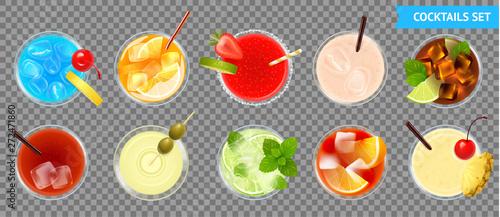 Cocktails Transparent Set - 272471860