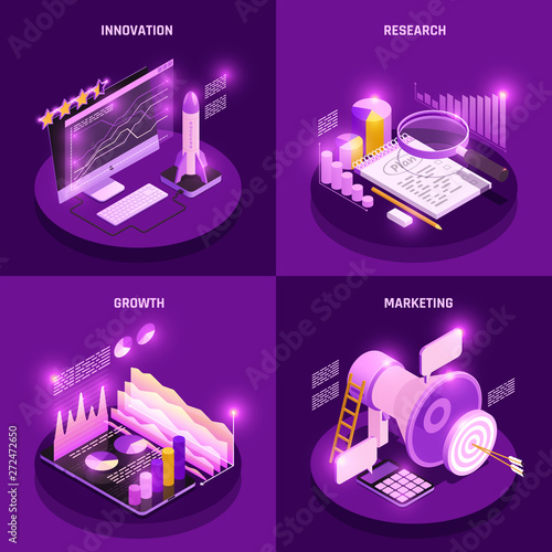 Photo  Business Strategy Concept Icons Set