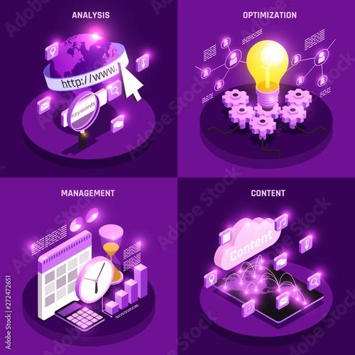 Web Traffic Concept Icons Set Canvas Print