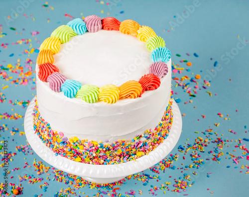 Canvastavla Birthday Cake with Sprinkles