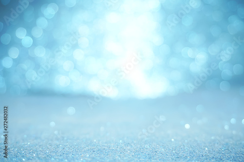 Poster Zee / Oceaan blue texture christmas abstract background