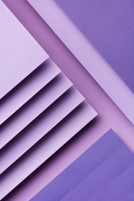 Abstract Photograph Of Purple Paper Shapes
