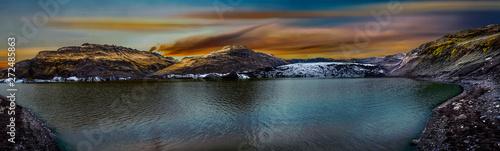 Sólheimajökulll Glacier in Mýrdalshreppur - Iceland. Canvas Print