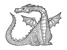 Dragon Fabulous Mythical Carto...