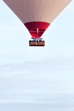 Air Balloon Flying Over Hills