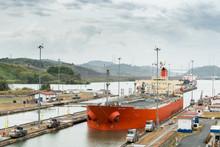 Ship Going Through Panama Cana...