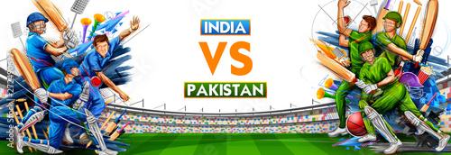 Fotografia illustration of batsman player playing cricket championship sports 2019