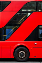 Detail Of A Double Decker Bus In London