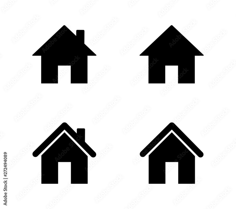Fototapety, obrazy: set of home icons isolated on white background. vector illustration.