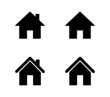 Set Of Home Icons Isolated On ...