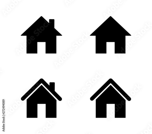Fotografie, Obraz  set of home icons isolated on white background