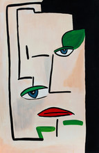 Abstract Portrait Painting Of A Face
