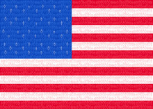 USA, American Flag With Stick People, Conceptual Graphic, United States Of America Population