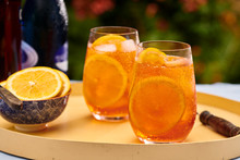 Orange Spritz Cocktail