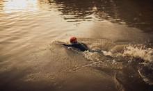 Man Swimming Crawl.