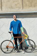Cyclist Enjoying Sunny Day