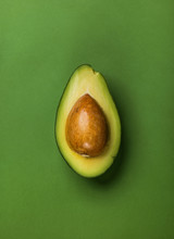 Half Of Avocado With Seed