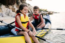 Children Having Summer Water Activity