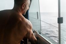 Yacht Skipper Sailing The Ocean