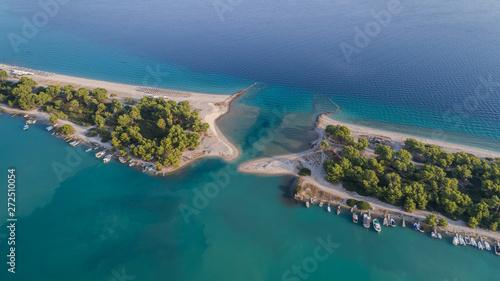 Foto auf AluDibond Blau türkis Glarokavos beach in Kassandra peninsula. Halkidiki, Greece