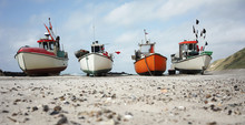 Old Fishing Boats On The Beach In Denmark