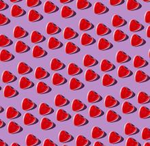 Gummy Heart Pattern On Lilac